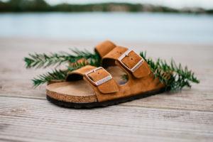 Birkenstock sandal i rostig mocca brun-Bonvings.se