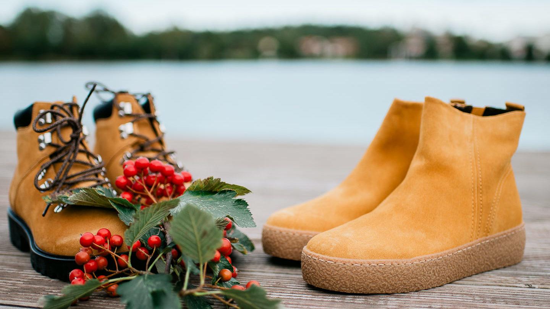 Vagabond gabor senapsgula boots och ankleboots till hostgarderoben